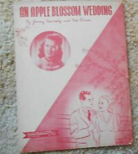 An Apple Blossom Wedding Ginny Simms Sheet  Music 1947