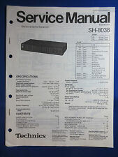 TECHNICS SH-8038 Equalizer EQ Service Manual Factory Original The Real Thing