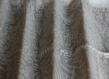 "White Burn-Out Silk Charmeuse 100% Silk Fabric 44"" Wide, By Yard (JD-426)"