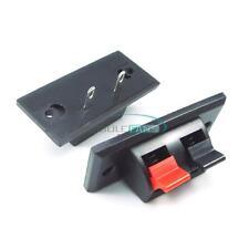 2-Way Speaker Terminal Push Plate Amplifier Strip Block Release Connector