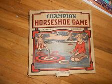 Vintage Little Jim Champion Horse Shoe Childs Game in Original Box Neat Graphics