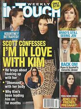 In Touch magazine Kourtney and Kim Kardashian Angelina Jolie Ryan Reynolds