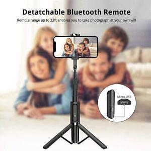 ATUMTEK Bluetooth Selfie Stick Aluminum Tripod, Extendable 3in1 Wireless Remote