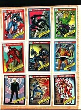 1990 Impel Marvel Universe BASE Set of 162 Cards EX+++ TO NM, X-Men, Spider-Man