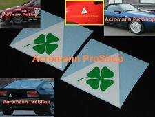 "2x 4"" 10.2cm Alfa Romeo Clover Leaf Quadrifolio Decal Sticker GTV Giulia GTA 156"
