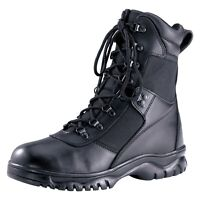 "MENS ROTHCO 5052 FORCED ENTRY 8"" TACTICAL BLACK LEATHER 4 WATERPROOF BOOTS NEW"