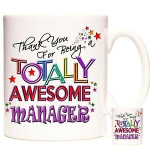 MANAGER Gift Coffee Mug /Tea Cup. Kazmugz Exclusive. Totally Awesome Manager
