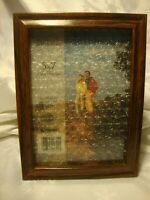 """InterCraft Photo Frame Holds 5""""x7"""" Picture Brown Resin Wall or Free-Standing  17"""