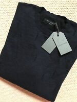 "ALL SAINTS MEN'S INK NAVY ""EMMS"" CREW JUMPER SWEATER TOP - XS S M L - NEW & TAGS"