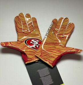 Nike Vapor Jet 5.0 San Francisco 49ers Team Issued NFL Football Gloves