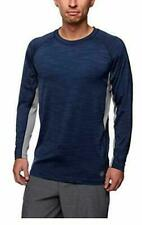 Small Men's Hang Ten Uv Protection Upf 50+ Sun Shirt, Back Pocket - Blue or Gray