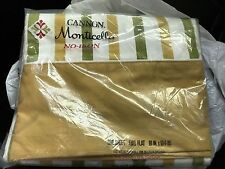 """Vintage FULL FLAT SHEET NO IRON CANNON MONTICELLO 81"""" X 104"""" NEW IN PKG"""