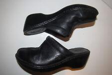 Born Womens Size 7M / EUR 38 Shoes Black Slip On Loafer Shoe