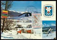 FRANCE MK 1968 OLYMPIC GAMES GRENOBLE OLYMPICS CARTE MAXIMUM CARD MC CM bd34