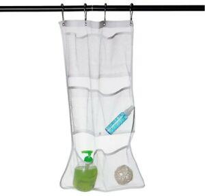 Bathroom  Shower Caddy Organizer Mesh 6 Pockets Soap Shampoo Storage Bag Hanging