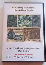 All 5 Complete Johnny Mack Brown uncut Serials -  Cliffhanger Movies Great Gift