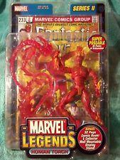 "HUMAN TORCH | Marvel Legends series II | 6""figure SEALED"