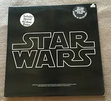 Star Wars OST + Insert no Poster  1st Press Gatefold UK 2 x LP 1977 EX/NM