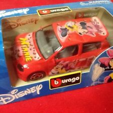 DISNEY BURAGO DIE CAST METAL 1/43  MINNIE'S PINK SUV CAR NIB MADE IN ITALY