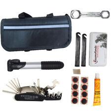 Bike Cycle Bicycle MTB Tool Puncture Repair Kit With Pump Set Carry Case Bag