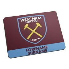 West Ham United F.C - Personalised Mouse Mat (BOLD CREST)