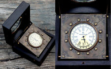 Vintage Brass Handmade watch with Wooden Gift Box-Vintage Style