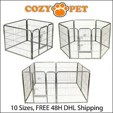 More details for heavy duty cozy pet puppy playpen run crate pen welping dog cage 9 sizes