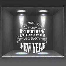 vetrofanie wall sticker adesivo per vetrine ufficio casa negozio Buon Natale