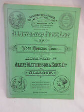 Illustrated Price List of Wood Working Tools Manufactured Mathieson & Sons 1979