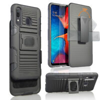For Samsung Galaxy A20/A30 Holster Belt Clip Case Hybrid Defender Armor Cover