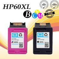 2PKs Compatible 60 XL Ink Cartridge CC640WN CC643WN For HP Deskjet F4200 F4230