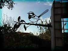 GARDEN FAIRY WREN BIRD STAKE METAL ART ORNAMENT SCULPTURE OUTDOOR DECORATION !!