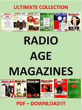 HUGE COLLECTION RADIO AGE MAGAZINE 1922 - 1927 - PDF DOWNLOAD!!!