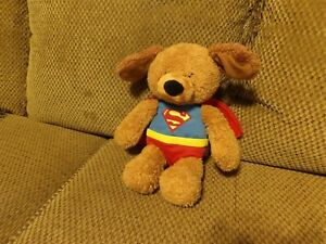 "HTF 13"" DC Comics GUND Superman GRIFFIN Plush Brown Puppy Dog #4048558 (*1b)"