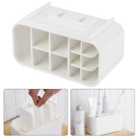 Electric Toothbrush Holder Wall Mounted Toothpaste Caddy Stand Organizer White