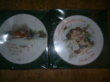 2 Nib American Greetings The Herald Angels 1984 Keepsake & World Beauty Plates