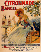 POSTER CITRONNADE BANGEL LEMONADE GIRL LEMON TREE FRENCH VINTAGE REPRO FREE S/H