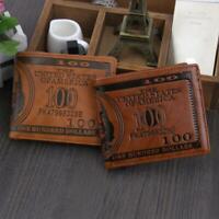 chaud brown carte de crédit le cuir portefeuille sac bifold modèle dollar bill