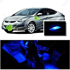 For Hyundai Elantra 2013-2016 Blue LED Interior Kit + Blue License Light LED