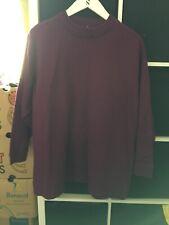 Monki Size Medium Purple Long Length Sweater Jumper (K4)