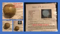 Great Chase To The Babe Ruth Signed Baseball JSA
