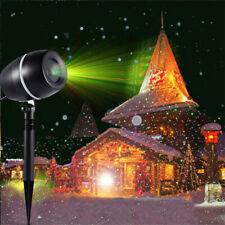 Laser Lights Projection LED Landscape Spotlight Holiday Party Garden Waterproof#