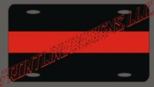 """Red Line License plate with reflective lettering and """"Monkey Fist"""" key keeper"""