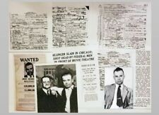 John Dillinger Photo + DEATH CERTIFICATE Lot + Gangster Baby Face Nelson + More
