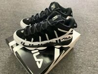 FILA MENS STACKHOUSE SPAGHETTI SNEAKERS BLACK/WHT