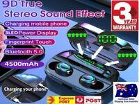 4600mAh bluetooth 5.0 Headphones Earbuds TWS Wireless Stereo Earphones IPX7 AU