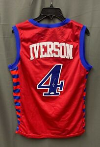 """Allen Iverson #3 Signed 76ers """" The Answer """" Jersey Sz XL JSA WITNESSED COA"""