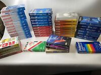 Lot Of 46 Pre-Recorded Used VHS Sold As Used Blanks  T-120 Maxwell/Sony & More!