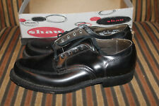 Vintage Nos 1950s Shaw Dress Shoes Chet Black Leather Dupont Neoprene Armortred