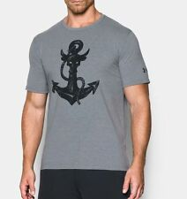 New Under Armour Men's Large L x Project Rock Anchor HeatGear T-Shirt The Rock